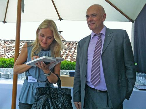 Malene Rydahl dédicace son livre à Philippe Gabilliet